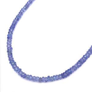 タンザナイト ショート ネックレス SV925 天然石 パワーストーン 金属アレルギー対応 送料無料 ポイント消化|yusa-jewelry