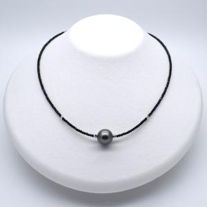 黒蝶真珠ネックレス パール SV925 ブラックスピネル ヘマタイト シルバー 銀 金属アレルギー対応 送料無料 ポイント消化|yusa-jewelry