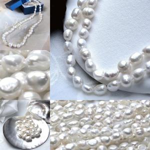 淡水パール バロック パーツ 素材 ビーズ 真珠 ホワイト 10mm|yusa-jewelry