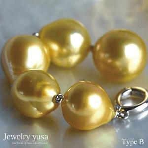 白蝶ゴールデン真珠オメガネックレス スルーペンダント クリッカー式 パール 11mm 南洋 パーティー 友人との会食 ギフト 送料無料|yusa-jewelry