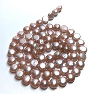 淡水パール 連 バロック ボタン 小粒  40cm パーツ 素材 真珠 ピンクパープル系|yusa-jewelry