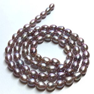 淡水パール 連 ライス 小粒 40cm  パーツ 素材 真珠 パープル系|yusa-jewelry