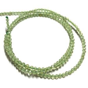 ペリドット 連 40cm 極小 2mm オリビン ラウンドカット 8月 誕生石 天然石 パワーストーン 素材 パーツ|yusa-jewelry