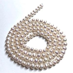 淡水パール 連 ポテト 極小 40cm パーツ 素材 真珠 ホワイト系|yusa-jewelry