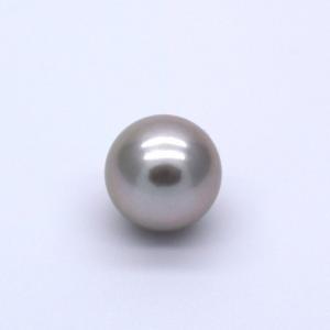 黒蝶真珠 タヒチパール ラウンド 1粒 10mm 無穴 高級 素材 パーツ ゴールドグレー系|yusa-jewelry