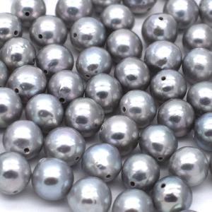 淡水パール ラウンド 10粒 シルバーグレー系 アコヤ真珠ナチュラル調カラー 中粒 5.5mm ルース|yusa-jewelry