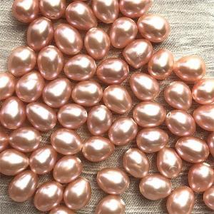 SALE 淡水パール ライス 小粒 パーツ 素材 真珠 オレンジ系 1粒 5~6mm|yusa-jewelry