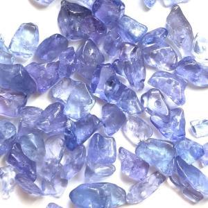 タンザナイト 細石 さざれ 小粒 4g ブルーゾイサイト パーツ ハンドメイド 素材 天然石 ビーズ|yusa-jewelry