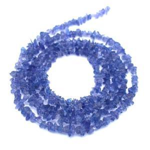 タンザナイト 連40cm 細石 さざれ 小粒  ブルーゾイサイト パーツ ハンドメイド 素材 天然石 ビーズ|yusa-jewelry