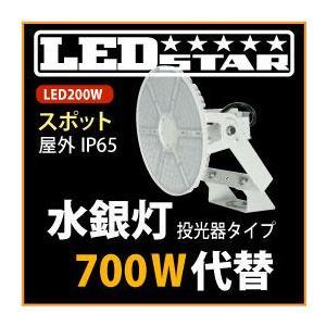 LED投光器・高天井照明 水銀灯700W同等の明るさ! 投光器タイプ 角度60度 昼白色  L200W-P-AS-50K-L-BR-DFL|yusac