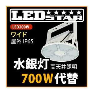 LED投光器・高天井照明 水銀灯700W同等の明るさ! 吊り下げタイプ 角度100度 昼白色 L200W-P-AW-50K|yusac