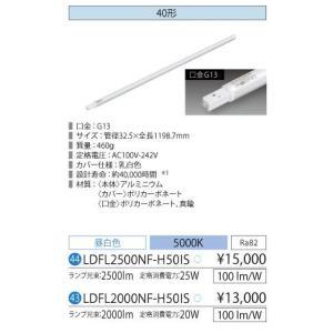 LED蛍光灯 明るさセンサー付き LED照明 アイリスオーヤマ40W型 昼白色  ECOLUX LDFL2500NF-H50IS yusac