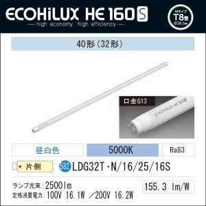 LED蛍光灯 LED照明 アイリスオーヤマ40W型  昼白色 2500lm ECOHiLUX HE 160S  LDG32T・N/16/25/16S|yusac