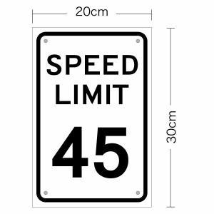 アメリカの道路標識 speed limit スピードリミット 片面サインパネル 幅
