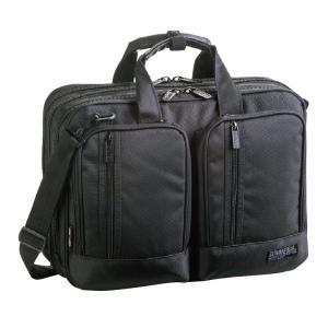 GERMANE GEAR(ジャーメインギア) ブリーフケース パソコンケース ビジネス 3WAY メンズ B4F 41cm No26500-01 黒  ...|yusyo-shopping