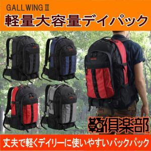 GULLWING(ガルウィング) デイパック バックパック リュックサック 軽量 大容量 メンズ レディース 53cm No42521-01 黒  ... yusyo-shopping