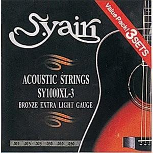 S.Yairi(ヤイリ) アコースティックギター弦 3セットパック/SY-1000XL-3 extra light gauge(0.11~0.50) .