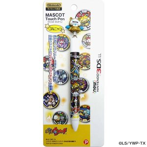 妖怪ウォッチ new NINTENDO 3DSLL マスコットタッチペン ゴルニャン .|yusyo-shopping