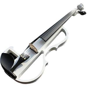 大幅に音エネルギーを低減 サイレントバイオリン/SAIBAN ホワイト ..