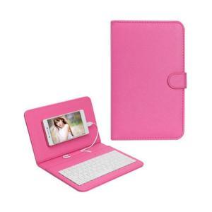 キーボード搭載 スマホケース 《ピンク》 Android対応 アンドロイド 薄型 軽量 おしゃれ スマホ 携帯ケース ..|yusyo-shopping