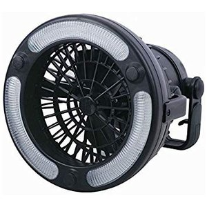 LEDライト搭載 キャンピングファン 扇風機 レジャー キャンプ アウトドア用品 電池式 ..|yusyo-shopping