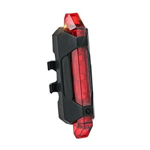 USB充電式 セーフティライト レッド 自転車 リアライト LEDライト テールライト 点灯 点滅 高輝度 MI-AQY-093-RD .