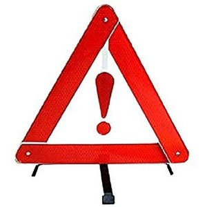 車用 警告反射板セキュリティ 二次災害 三角表示 カー用品 緊急 反射板 組立 収納BOX付き ..