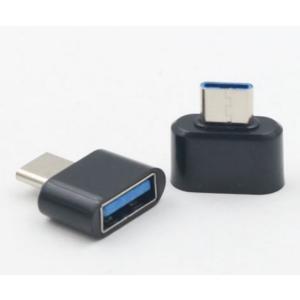 OTG対応 USB-A to USB Type-C 変換アダプタ 《ブラック》 .|yusyo-shopping