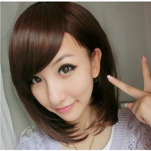 Jタイプ 《ブラック》 ウィッグ ロング ボブ ミディアム 黒髪 茶髪 ゆるふわ 巻き髪 ウイッグ ._|yusyo-shopping