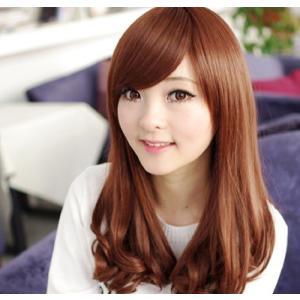 Iタイプ 《ライトブラウン》 ウィッグ ロング ボブ ミディアム 黒髪 茶髪 ゆるふわ 巻き髪 ウイッグ ._|yusyo-shopping