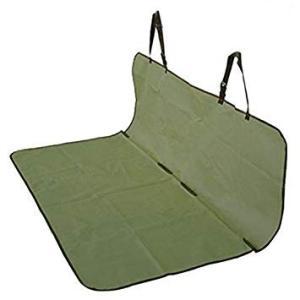 車載 ペット用 防水シートカバー 《グリーン》 後部座席用 143×132cm フリーサイズ ..