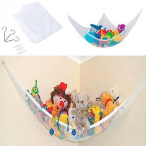 おもちゃ収納用ハンモック ぬいぐるみ 玩具 片付け 吊り下げ ネット ._|yusyo-shopping