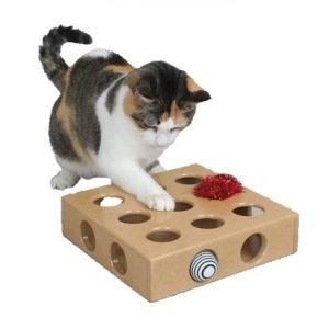 猫用おもちゃ 木製 ころころボールボックス 運動不足 ストレス解消 ねこじゃらし ..|yusyo-shopping