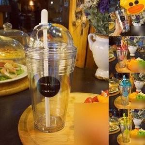 水筒 ボトル プラスチックボトル 直飲み ストロー付き 韓国風 オシャレ 軽い 便利JZAH-TB85 yutaka-s