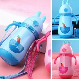 水筒 子供用 魔法瓶 キッズ ボトル 直飲み 保温 保冷 キャラクター 通園 ウサギJZAH1-AL170|yutaka-s