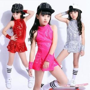 スパンコール ダンス衣装 女の子 スパンコール 衣装 ダンス 子供 キッズ 女の子 ダンス衣装 セットアップ ジュニア ラテンダンス 社交ダンス|yutaka-s