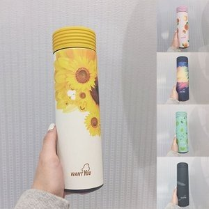 水筒 直飲み ステンレスボトル 水筒 魔法瓶 保温 便利 オシャレ 可愛いGZAH-AL56|yutaka-s