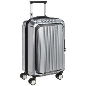 [バーマス] スーツケース プレステージ2 フロントオープン 縦型 4輪 34L 2.9kg キャスター交換可能 機内持ち込み可 A4収納可 60261 シルバー yutakanaseikatu