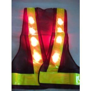 赤色LED反射ベストA紺・黄|yutorianzen