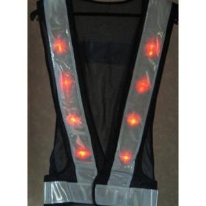 赤色LED反射ベストM 紺・白20着|yutorianzen