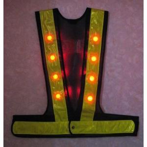 赤色LED ベスト 紺・黄/50枚まとめて|yutorianzen