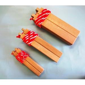 拍子木 樫 中型|yutorianzen
