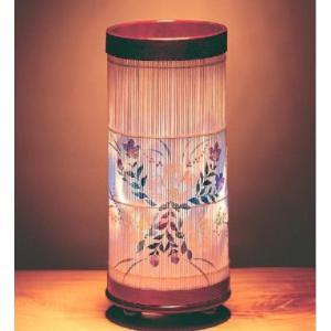 和紙に熟練した職人が1個1個、丁寧に手描きした美しい花。 内部にセットした回転灯が回り、幻想的な灯り...