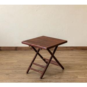 バンブー折畳みテーブル スクエアの写真