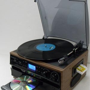 レコード CD ラジオ&カセット搭載多機能プレーヤー RTC-29|yutoriplan