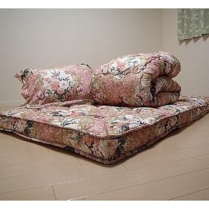 極厚羊毛入り敷布団付き寝具5点セット|yutoriplan