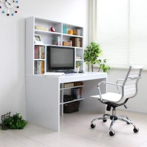 パソコンデスク 幅120cm 奥行70cm 上下一体型 本棚|yutoriplan