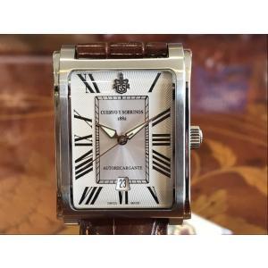 クエルボイソブリノス 腕時計 プロミネンテ クラシコ 正規商品 シルバー Ref.1015-1RA クエルボ・イ・ソブリノス 無金利分割も可能です|yuubido-oyabu