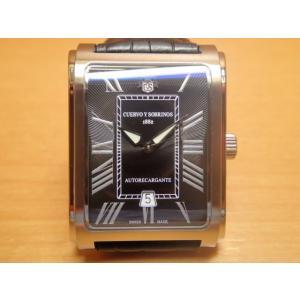 クエルボイソブリノス 腕時計 プロミネンテ クラシコ 正規商品 ブラック Ref.1015-1RN クエルボ・イ・ソブリノス 無金利分割も可能です|yuubido-oyabu