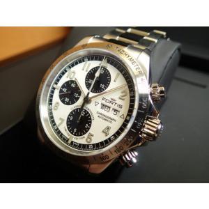 フォルティス (100本 限定品) フォルティス FORTIS クラシック・コスモノート スチール リミテッド・エディション 42mm 腕時計 Ref.401.21.72M|yuubido-oyabu